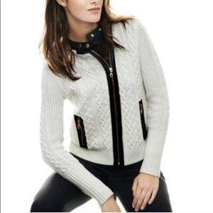 Club Monaco Amalia Cabled Sweater Jacket XS